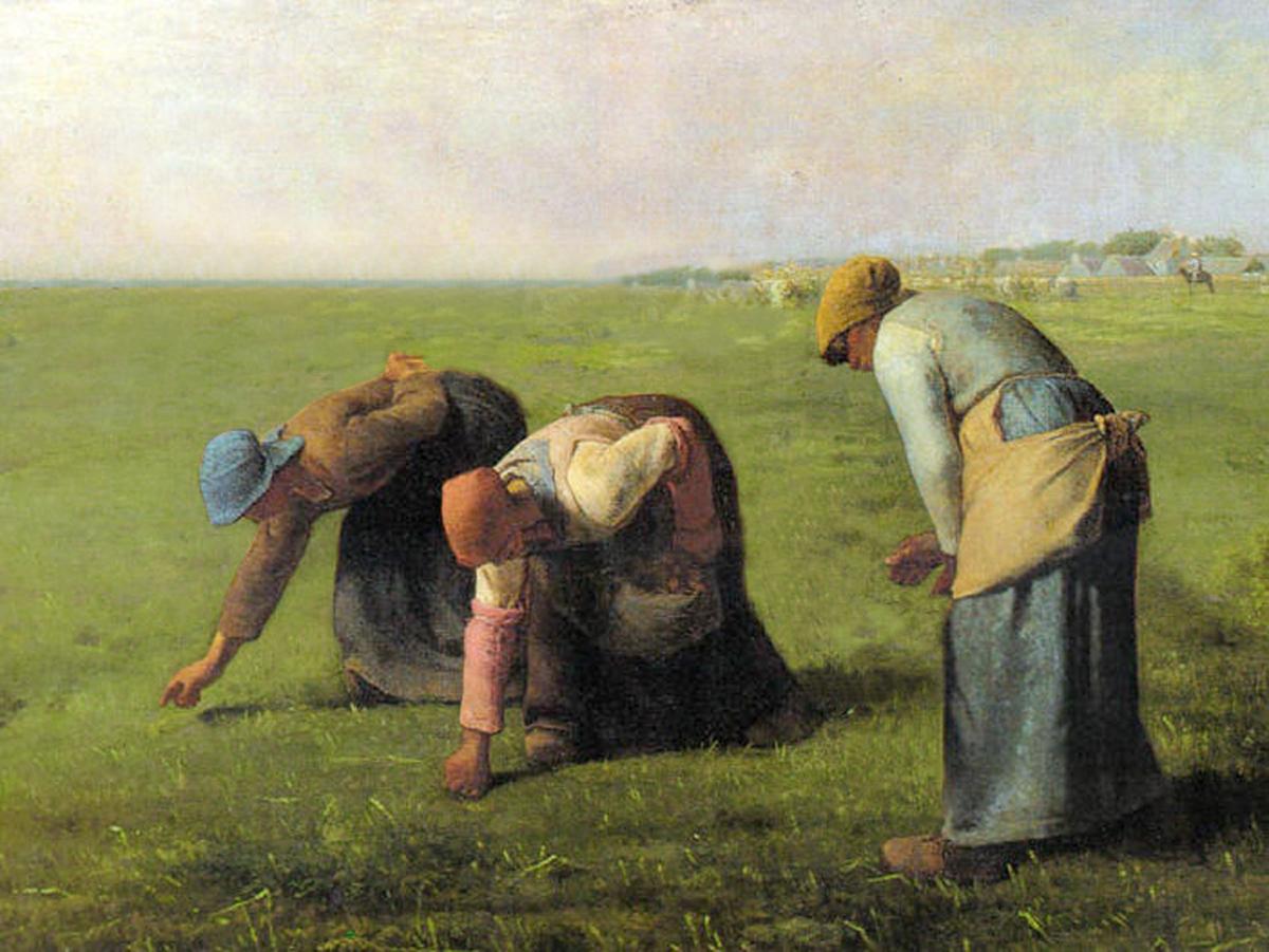 Les Glaneuses de Millet, peinture détournée